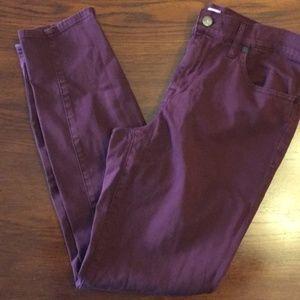 Madewell Skinny Skinny Pants Size 31 Maroon